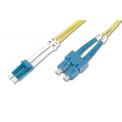 Digitus - DK-2932-02 cable de fibra optica 2 m LC SC Amarillo