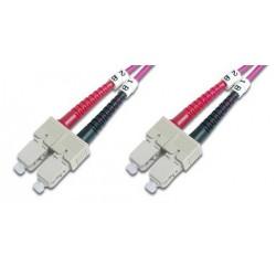 Digitus - SC/SC, 3 m cable de fibra optica OM4 Multicolor