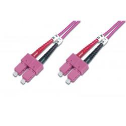 Digitus - SC/SC OM4 2m cable de fibra optica 2x SC Purple,Black,Red