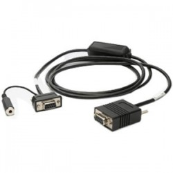 Zebra - 25-13228-03R cable de serie Negro 1,8 m DB9