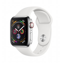 Apple - Watch Series 4 reloj inteligente Acero inoxidable OLED Móvil GPS (satélite)