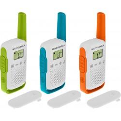 Motorola - TALKABOUT T42 two-way radios 16 canales Azul, Verde, Naranja, Blanco