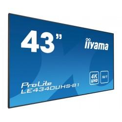 "iiyama - LE4340UHS-B1 pantalla de señalización 108 cm (42.5"") LED 4K Ultra HD Negro"
