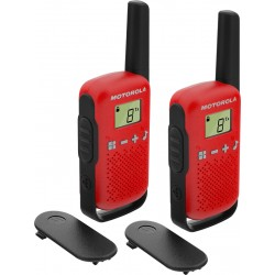 Motorola - TALKABOUT T42 two-way radios 16 canales Negro, Rojo