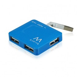 Ewent - EW1126 hub de interfaz 480 Mbit/s Azul