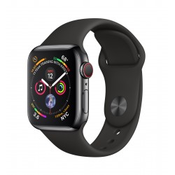 Apple - Watch Series 4 OLED 40 mm Negro 4G GPS (satélite) - MTVL2TY/A