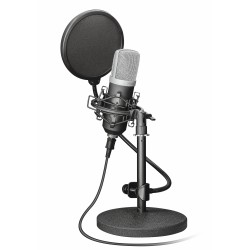 Trust - 21753 micrófono Micrófono de estudio Alámbrico Negro