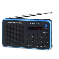 Sunstech - Portable digital AM/FM radio Black Portátil Analógica Negro, Azul