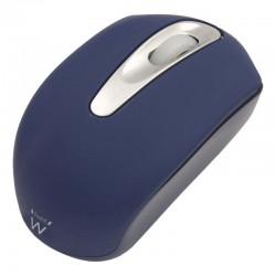 Ewent - EW3177 USB Óptico 1000DPI Ambidextro Azul ratón