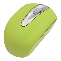 Ewent - EW3179 USB Óptico 1000DPI Ambidextro Verde ratón