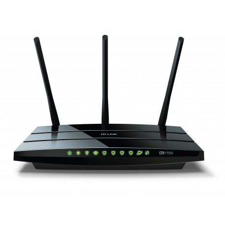 TP-LINK - Archer C7 Doble banda (2,4 GHz / 5 GHz) Gigabit Ethernet Negro router inalámbrico