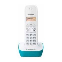 Panasonic - KX-TG1611 Teléfono DECT Turquesa, Blanco Identificador de llamadas