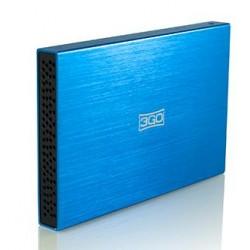 "3GO - HDD25BL13 2.5"" Azul caja para disco duro externo"