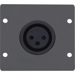 Kramer Electronics - WA-1XLF(B) placa de pared y cubierta de interruptor Negro