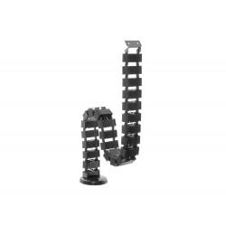 Equip - 650808 organizador de cables Piso Negro 1 pieza(s)
