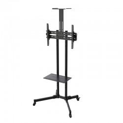 "TooQ - FS1470M-B soporte de pie para pantalla plana Portable flat panel floor stand Negro 177,8 cm (70"")"
