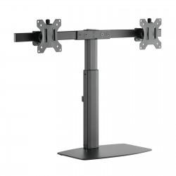 "TooQ - Soporte de mesa para 2 pantallas (monitor / plasma / LCD / LED) 17""-27"""