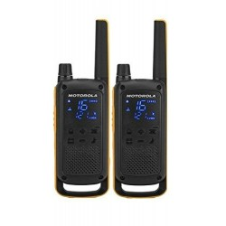 Motorola - T82 Extreme Twin Pack two-way radios 16 canales Negro, Naranja