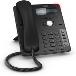 Snom - D712 teléfono IP Negro Terminal con conexión por cable 4 líneas