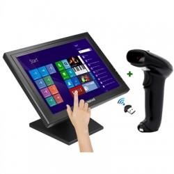 """iggual - IGG316269 monitor pantalla táctil 38,1 cm (15"""") 1024 x 768 Pixeles Negro"""