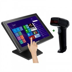"""iggual - IGG316252 monitor pantalla táctil 38,1 cm (15"""") 1024 x 768 Pixeles Negro"""