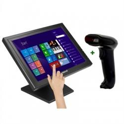 """iggual - IGG316276 monitor pantalla táctil 38,1 cm (15"""") 1024 x 768 Pixeles Negro"""