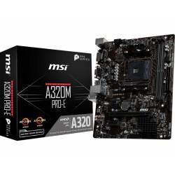 MSI - A320M PRO-E placa base Zócalo AM4 Micro ATX AMD A320