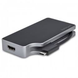 StarTech.com - Adaptador de Vídeo Multipuertos USB C - 4 en 1 - con Entrega de Alimentación PD de 85W - Conversor - Gris Espacia