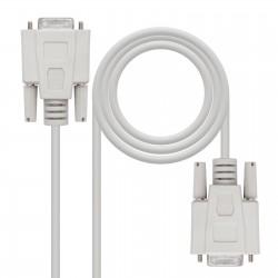 Nanocable - 10.14.0402 cable de serie Beige 1,8 m DB9