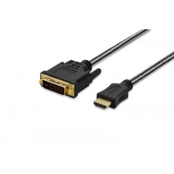 ASSMANN Electronic - 84485 adaptador de cable de vídeo 2 m HDMI DVI-D Negro