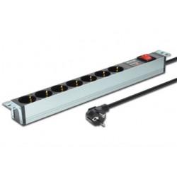 Digitus - DN-95407 base múltiple 2 m 7 salidas AC Plata