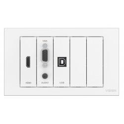 Vision - TC3-PK toma de corriente Blanco