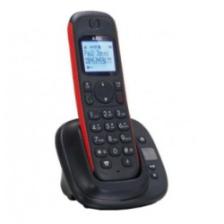 AEG - THOR 15 Analog/DECT telephone Negro Identificador de llamadas