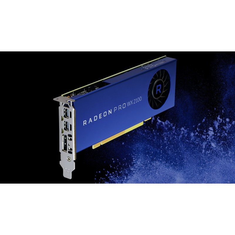Radeon Pro WX 2100, 2 GB, GDDR5, 64 bit, 3840 x 2160 Pixeles, PCI Express x16 3.0 Tarjeta gr/áfica AMD 100-506001