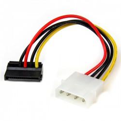 StarTech.com - Adaptador Cable 15cm Alimentación SATA Ángulo a la Izquierda 15 Pines a 4 Pines LP4