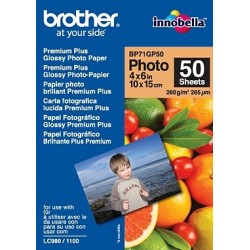 Brother - BP71GP50 Premium Glossy Photo Paper papel fotográfico Blanco