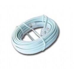 Gembird - TC6P4C-5M cable telefónico Blanco