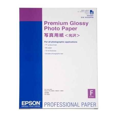 Epson - Premium Glossy Photo Paper, DIN A2, 250 g/m², 25 hojas
