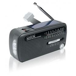 Muse - MH-07DS-HYBRID radio Portátil Analógica Negro