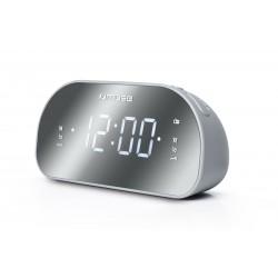 Muse - M-170CMR radio Reloj Digital Espejo, Blanco
