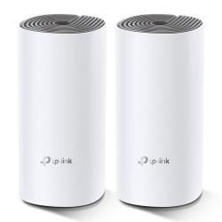 TP-LINK - Deco E4 (2-pack) Doble banda (2,4 GHz / 5 GHz) Wi-Fi 5 (802.11ac) Blanco, Gris Interno