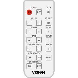 Vision - AV-1800 RC mando a distancia IR inalámbrico Blanco