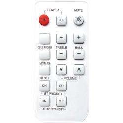 Vision - SP-1800P RC mando a distancia IR inalámbrico Plata Botones