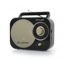 Muse - M-055 RB radio Portátil Analógica Negro, Oro