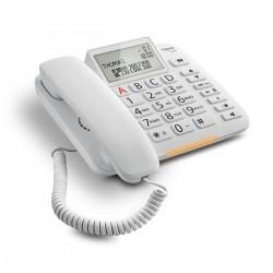 Gigaset - DL380 Teléfono analógico Blanco Identificador de llamadas