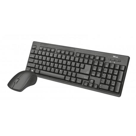 Trust - Ziva teclado RF inalmbrico Espaol Negro