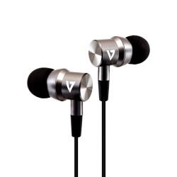 V7 - Auriculares internos estéreo con aislamiento de ruido de 3,5 mm con micrófono incorporado, iPad, iPhone, MP3,
