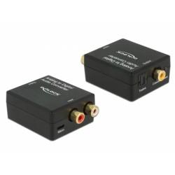 DeLOCK - 63468 convertidor de audio Negro