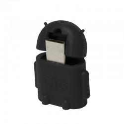 LogiLink - AA0062 adaptador de cable Micro-USB-OTG USB 2.0 Negro
