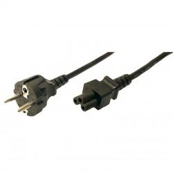 LogiLink - CP093 cable de transmisión Negro 1,8 m C5 acoplador CEE7/7